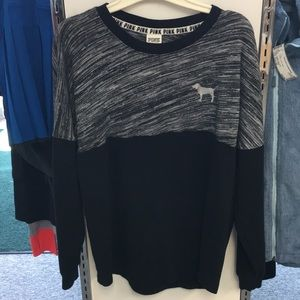 Pink sweatshirt in black and gray size XS